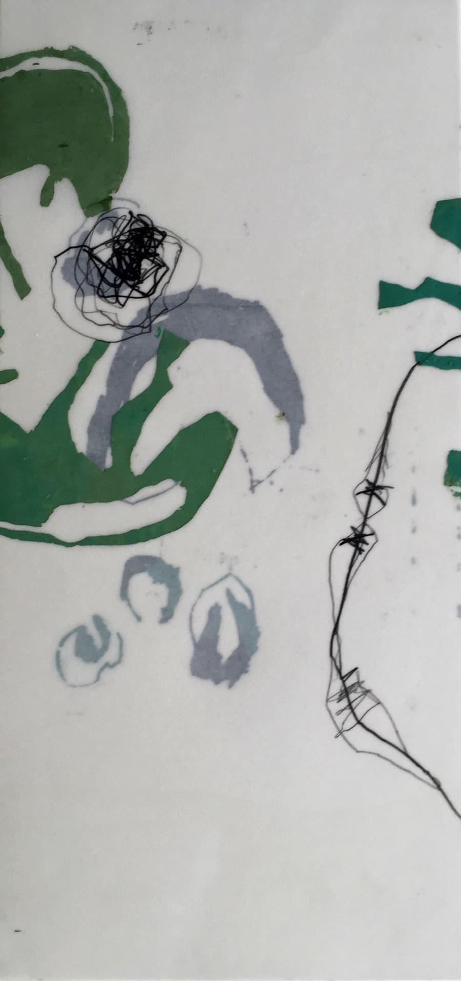 Siebdruck mit Wachs und Grafit 50 x 23 cm, 3