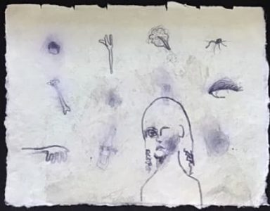 18 x 23 cm, Grafit auf Bütten