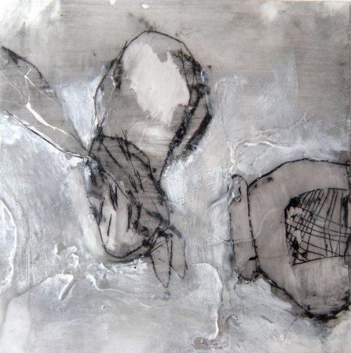 20 x 20 cm, Wachs, Ölkreide
