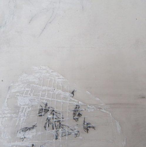 20 x 20 cm, Wachs, Ölkreiden