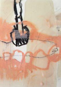 21 x 15 cm Ölkreide Grafit