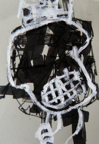 23 x16 cm, Acryl, Ölkreide