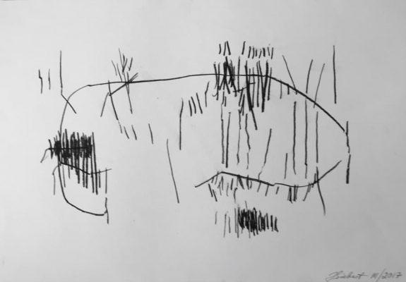 34x50, Lith. Crayon, Papier,