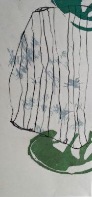Siebdruck mit Wachs und Grafit 50 x 23 cm, 1