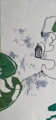 Siebdruck mit Wachs und Grafit 50 x 23 cm, 2