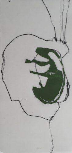 Siebdruck mit Wachs und Grafit 50 x 23 cm, 4